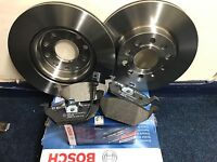 BOSCH VW Golf MK5 Front Brake Discs And Pads Pair Kit 2003-2009 NEW SET