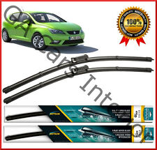 """SEAT Ibiza 2012 - 2017 ANTERIORE COPPIA PIATTI AERO Wiper Blades 24"""" 16"""" NUOVA SERIE D"""