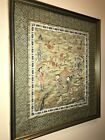Vintage Pretty Chinese Embroidery Silk Panel