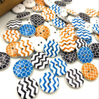 New 50pcs SLine Wood Buttons 20mm Sewing Craft Mix Lots WB186