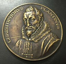 BRONZE MEDAL BY JOSUE DUPON - PORTRAIT OF CHRISTOPHORUS PLANTINUS 1920 / M81