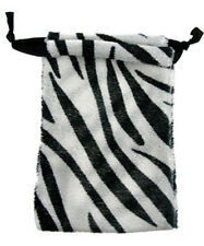 LOT OF 12 ZEBRA DESIGN DRAWSTRING POUCH GIFT BAGS