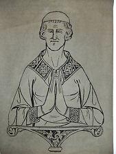Brass rubbing GREAT BRINGTON NORTHAMPTIONSHIRE John de Clipson c1340   .. 11/1