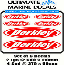 Berkley Fishing Boat Sticker Decal Marine Set of 6