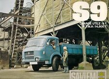 Saviem S9 Truck & Tractor Unit Late 1960s French Market Sales Brochure