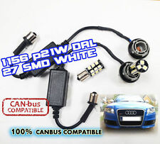 2 x P21W 1156 CANBUS NO ERROR Resistors 27 smd LED audi rs4 DRL skoda daytime
