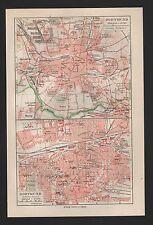 Landkarte city map 1925: Stadtplan: DORTMUND. DORTMUND Innere Stadt.