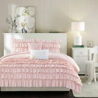 Intelligent Design Waterfall Comforter Set Blush Twin/Twin XL