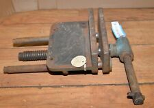 """Heavy duty woodworking bench vise 7 1/2"""" wide jaws collectible carving wood tool"""