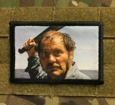 Jaws Movie Quint Morale Patch Tactical Military USA Hook Badge Army Flag