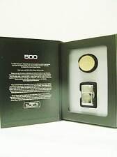 Zippo® 500 Million Sammler - Stamped Oval Brass Blank - Serialized limited Ovp