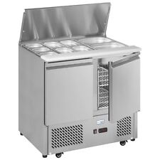 ESA 900 STAINLESS STEEL GASTRONORM PREPERATION COUNTER FRIDGE & FREE DELIVERY!