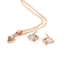 Elegants Gold Sliver Plated Rhinestone Skull Head Necklaces Earrings Jewelry sT