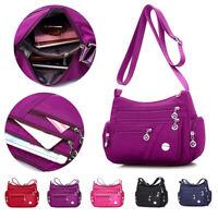 Women's Bags Nylon Waterproof Messenger Crossbody Shoulder Bag Travel Handbag