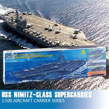 Trumpeter 05201 1/500 USS Nimitz-class CVN-68 Aircraft SuperCarries(5 in 1) Kits