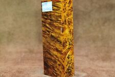 Stabilized Spalted Maple Burl Wood knife scales block