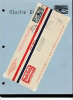 LINDBERGH COVER COLLECTION - 54 Covers, Journal & Stamps