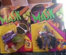 '95 THE MASK Movie (Jim Carrey) Action Figures Quick Draw and Chompin' Milo MOC
