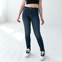 Levi's 721 High Rise Super Skinny Dunkelblau Damen Jeans DE 38 / W30 L32