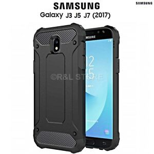 COVER per Samsung Galaxy J3 / J5 / J7 2017 CUSTODIA HYBRID TOUGH ARMOR RUGGED