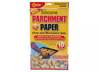 10 PACK SILICONE PARCHMENT PAPER MICROWAVE OVEN BAKING COOKING SHEETS NON STICK