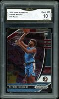 2020 Prizm Draft Picks Base #20 Patrick Williams RC GMA 10 COMP TO PSA BGS
