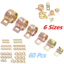 60pc Spring Clip Fuel Oil Water Hose Pipe Clamp 12-22mm Air Tube Fastener 6Sizes