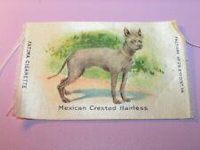 Antique Fatima Cigarettes Tobacco Silk Mexican Crested Hairless