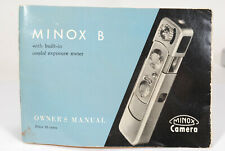 Vintage Minox B Instruction Book