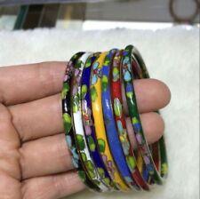 Wholesale 7PCS Chinese Handmade Cloisonne Enamel Cuff Hollow Bracelet Bangle