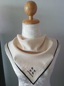 "BurberryUnisex Plain Embroidered Logo Cotton Square Handkerchief 18.5"""