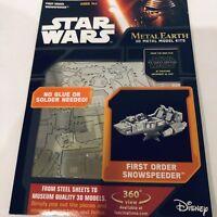 Metal Earth 3D Metal Model Kit- Star Wars First Order Snowspeeder (New & Sealed)