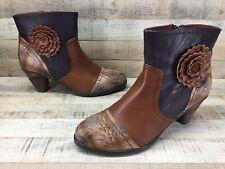 L'Artiste by Spring Step Neske Flower Ankle Boots sz 9.5-10 / 41  ~Excellent~