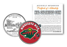 MINNESOTA WILD NHL Hockey Minnesota Statehood Quarter Coin OFFICIALLY LICENSED