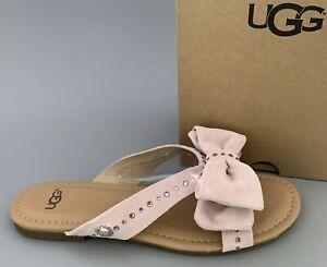 UGG  FONDA Flip Flop Swarovski Embellished Sandals #1019968 $140 US7.5  Seashell