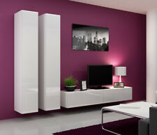 Seattle 13 - gloss white modern tv wall unit / contemporary entertainment center