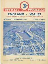 England v Wales Grand Slam season for Wales 19 Jan  1952  RUGBY PROGRAMME