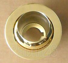 "4"" RECESSED CAN 120V R20 PAR20 LIGHT ADJUSTABLE EYEBALL TRIM SHINY BRASS GOLD"