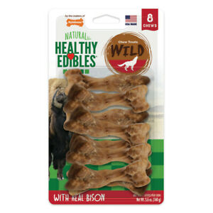 Nylabone Natural Healthy Edibles Wild with Real Bison Small Dog Treats
