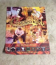 Rare! Cd Lp Cypress Hill Promo Poster 30x24apx stoned. 2pac Music vintage