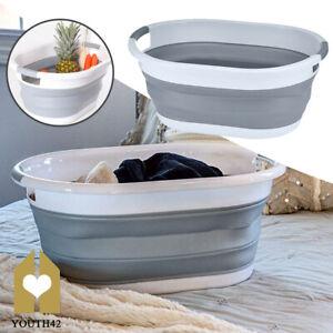 Silicone Collapsible Laundry Basket Folding Cloth Washing Storage Bin Pop Up