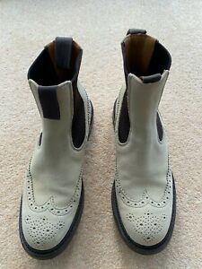 Trickers | Silva Suede  Dealer Boots | Ivory/Beige| Size 8 Fitting 4 |