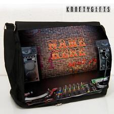 Personalised DJ Decks Studio Work School Laptop Shoulder Messenger Bag ST188