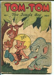 Tom-Tom The Jungle Book #1 1947-ME-1st issue-funny animals-FR