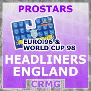 CRMG Corinthian ProStars ENGLAND HEADLINERS WORLD CUP 98 1998 (choose from list)
