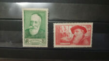 Lot 2 Timbres France Chômeurs intellectuels 1937