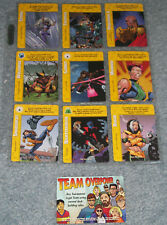 COMPLETE MARVEL OVERPOWER MEGAPOWER PROMO SET OF 10 CARDS 9 SPECIALS & LOCATION