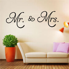 Wall Stickers Mr. & Mrs. PVC wall Sticker decal living room Home decor removable