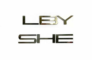 DKM | GUNMETAL CHROME FRONT SPOILER LETTERS FOR SHELBY GT350 2015-2018 NOT DECAL