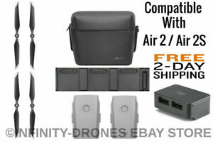 DJI Mavic AIR 2 / 2S Accessories Combo 2x Battery-Hub/Case/PowerBank/Propellers